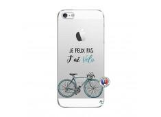 Coque iPhone 5/5S/SE Je Peux Pas J Ai Velo