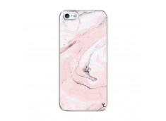 Coque iPhone 5/5S/SE Marbre Rose Translu