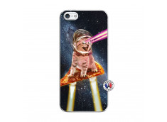 Coque iPhone 5/5S/SE Cat Pizza Translu