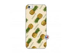 Coque iPhone 5/5S/SE Sorbet Ananas Translu