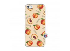 Coque iPhone 5/5S/SE Sorbet Pêche Translu