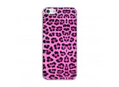 Coque iPhone 5/5S/SE Pink Leopard Translu