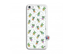 Coque iPhone 5C Le Monde Entier est un Cactus Translu