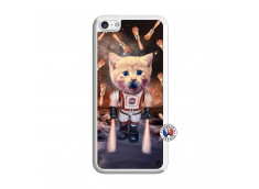 Coque iPhone 5C Cat Nasa Translu