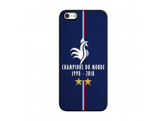 Coque iPhone 5C Champions Du Monde 1998 2018 Noire