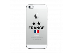 Coque iPhone 5C France 2 Etoiles