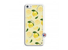 Coque iPhone 5C Sorbet Citron Translu