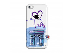 Coque iPhone 5C I Love Paris Arc Triomphe