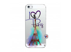Coque iPhone 5C I Love Paris