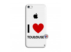 Coque iPhone 5C I Love Toulouse