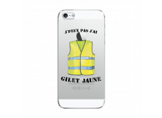 Coque iPhone 5C J Peux Pas J Ai Gilet Jaune