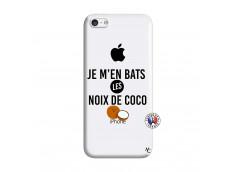 Coque iPhone 5C Je m'en bats Les Noix De Coco