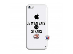 Coque iPhone 5C Je M En Bas Les Steaks