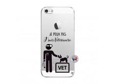 Coque iPhone 5C Je Peux Pas Je Suis Veterinaire