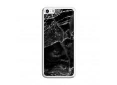 Coque iPhone 5C Black Marble Translu