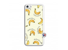 Coque iPhone 5C Sorbet Banana Split Translu