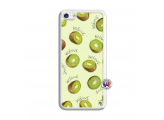 Coque iPhone 5C Sorbet Kiwi Translu