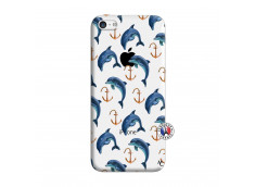 Coque iPhone 5C Dauphins