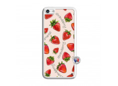 Coque iPhone 5C Sorbet Fraise Translu