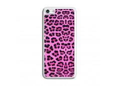 Coque iPhone 5C Pink Leopard Translu
