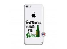 Coque iPhone 5C Tout Travail Merite Sa Biere