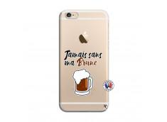 Coque iPhone 6 Plus/6s Plus Jamais Sans Ma Brune