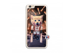Coque iPhone 6/6S Cat Nasa Translu