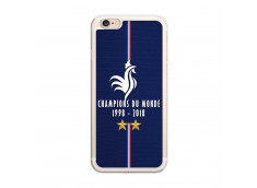 Coque iPhone 6/6S Champions Du Monde 1998 2018 Transparente