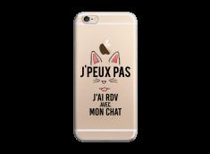 Coque iPhone 6/6S J Ai Rdv Avec Mon Chat