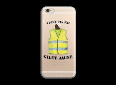 Coque iPhone 6/6S J Peux Pas J Ai Gilet Jaune