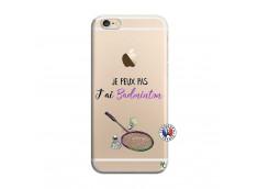 Coque iPhone 6/6S Je Peux Pas J Ai Badminton