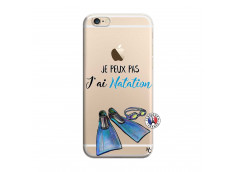 Coque iPhone 6/6S Je Peux Pas J Ai Natation
