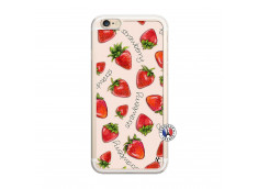Coque iPhone 6/6S Sorbet Fraise Translu