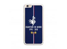 Coque iPhone 6Plus/6SPlus Champions Du Monde 1998 2018 Transparente