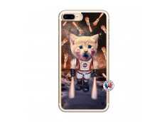 Coque iPhone 7 Plus/8 Plus Cat Nasa Translu