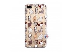 Coque iPhone 7 Plus/8 Plus Cat Pattern