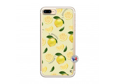 Coque iPhone 7 Plus/8 Plus Sorbet Citron Translu