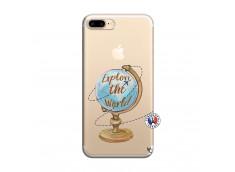 Coque iPhone 7 Plus/8 Plus Globe Trotter