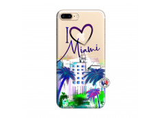 Coque iPhone 7 Plus/8 Plus I Love Miami