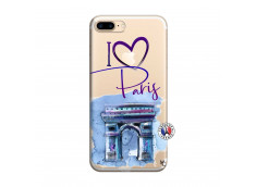 Coque iPhone 7 Plus/8 Plus I Love Paris Arc Triomphe