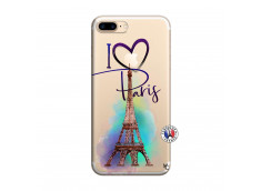 Coque iPhone 7 Plus/8 Plus I Love Paris