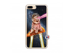 Coque iPhone 7 Plus/8 Plus Cat Pizza Translu