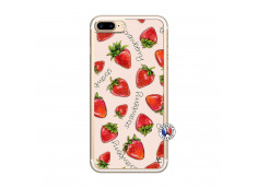 Coque iPhone 7 Plus/8 Plus Sorbet Fraise Translu