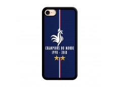 Coque iPhone 7/8 Champions Du Monde 1998 2018 Noire