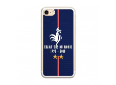 Coque iPhone 7/8 Champions Du Monde 1998 2018 Transparente