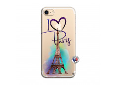 Coque iPhone 7/8 I Love Paris