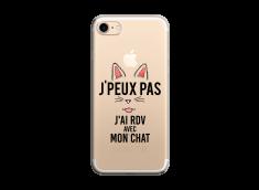 Coque iPhone 7/8 J Ai Rdv Avec Mon Chat
