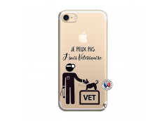 Coque iPhone 7/8 Je Peux Pas Je Suis Veterinaire