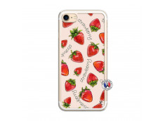 Coque iPhone 7/8 Sorbet Fraise Translu