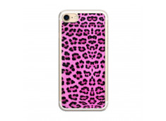 Coque iPhone 7/8 Pink Leopard Translu